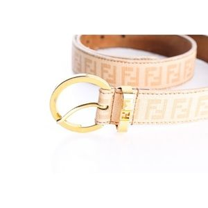 Fendi Tan Leather Belt